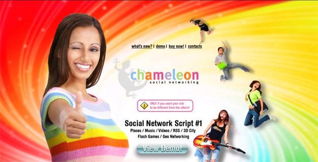 Chameleon, pour la création de Réseaux Sociaux et sites de rencontres