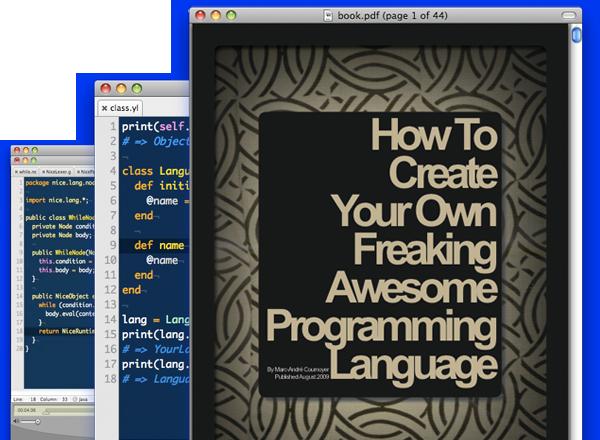 Livre pour la création de son langage de programmation