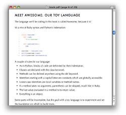 Extensions proposées au langage de programmation avec des solutions à la fin du livre