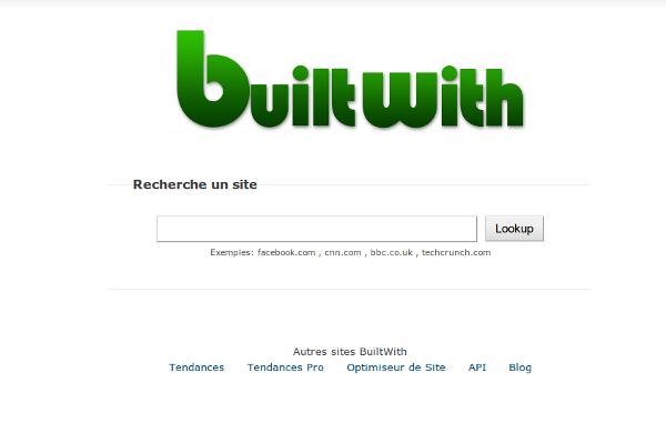 Analyse des tendances technologiques de site web grâce à Builtwith