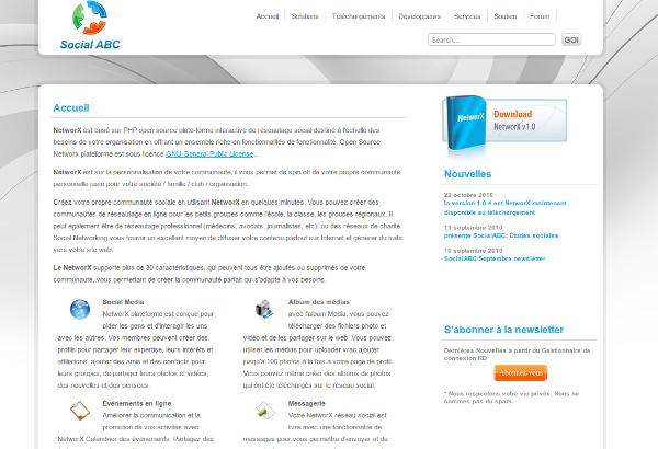NetworX, CMS communautaire en PHP