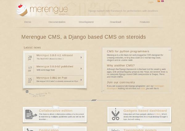 Merengue CMS Django Python