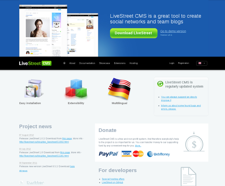 LiveStreet CMS PHP