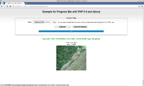 Barre de progression en PHP 5.4