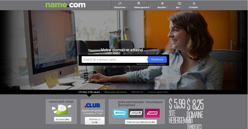name.com - nom de domaine